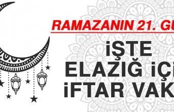 Ramazanın Yirmi Birinci Gününde Elazığ'da İftar Vakti Saat Kaçta?