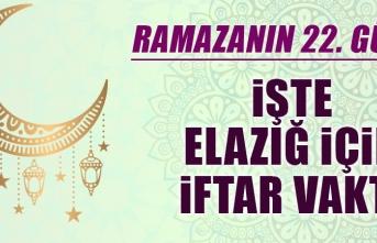 Ramazanın Yirmi İkinci Gününde Elazığ'da İftar Vakti Saat Kaçta?