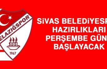 Sivas Belediyespor Hazırlıkları Perşembe Günü Başlayacak