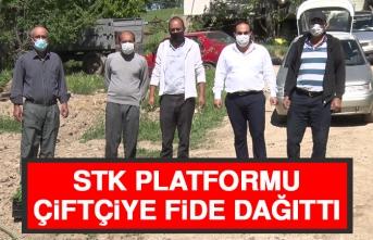 STK Platformu, Çiftçiye Fide Dağıttı