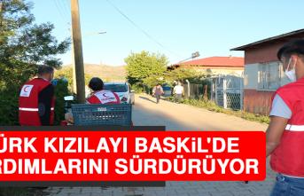 Türk Kızılayı Baskil'de Yardımlarını Sürdürüyor