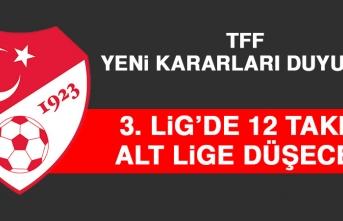3. Lig'de 12 Takım, Alt Lige Düşecek