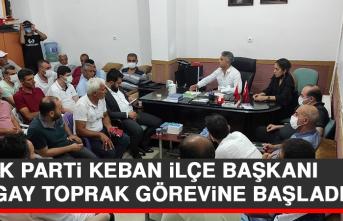 AK Parti Keban İlçe Başkanı Turgay Toprak Görevine Başladı