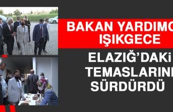 Bakan Yardımcısı Işıkgece Elazığ'daki Temaslarını Sürdürdü