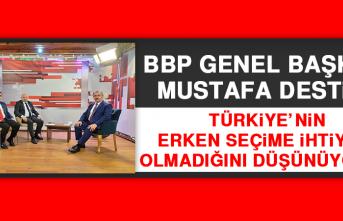 BBP Genel Başkanı Destici: Türkiye'nin Erken Seçime İhtiyacı Olmadığını Düşünüyorum