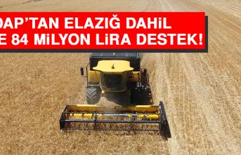 DAP'tan Elazığ Dahil 15 ile 84 Milyon Lira Destek