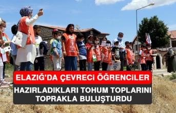 Elazığ'da Çevreci Öğrenciler Hazırladıkları Tohum Toplarını Toprakla Buluşturdu