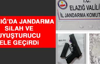 Elazığ'da Jandarma Silah ve Uyuşturucu Ele Geçirdi