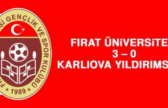 Fırat Üniversitesi 3 – 0 Karlıova Yıldırımspor
