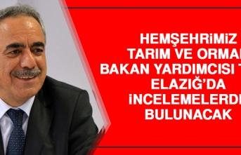 Hemşehrimiz Bakan Yardımcısı Tunç Elazığ'da İncelemelerde Bulunacak
