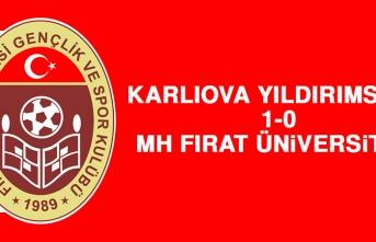 Karlıova Yıldırımspor 1-0 MH Fırat Üniversitesi