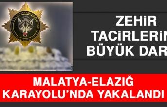 Malatya-Elazığ Karayolu'nda Yakalandı