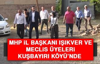 MHP İl Başkanı Işıkver ve Meclis Üyeleri, Kuşbayırı Köyü'nde