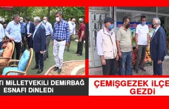 Milletvekili Demirbağ, Esnafı Dinledi
