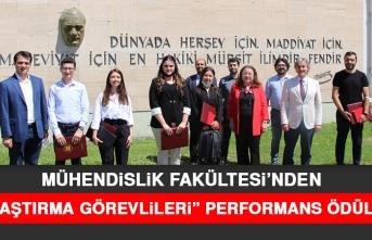 Mühendislik Fakültesi'nden Araştırma Görevlileri Performans Ödülleri
