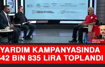 Yardım Kampanyasında 542 Bin 835 Lira Toplandı