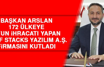 Başkan Arslan, 172 Ülkeye Oyun İhracatı Yapan Roof Stacks Yazılım A.Ş. Firmasını Kutladı
