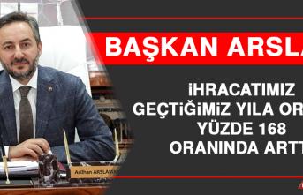 Başkan Arslan: İhracatımız Geçtiğimiz Yıla Oranla Yüzde 168 Oranında Arttı