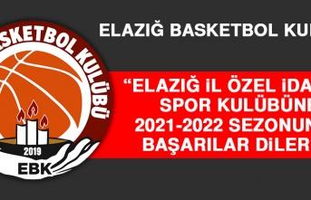 EBK: Elazığ İl Özel İdaresi Spor Kulübüne 2021-2022 Sezonunda Başarılar Dileriz