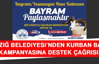 Elazığ Belediyesi'nden Kurban Bağış Kampanyasına Destek Çağrısı