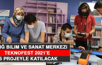 Elazığ Bilim ve Sanat Merkezi TEKNOFEST 2021'e 15 Projeyle Katılacak