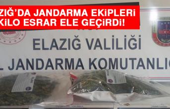 Elazığ'da Jandarma Ekipleri 2 Kilo Esrar Ele Geçirdi!
