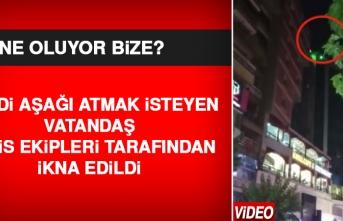 Elazığ'da Kendini Aşağı Atmak İsteyen Vatandaş, Polisler Tarafından İkna Edildi
