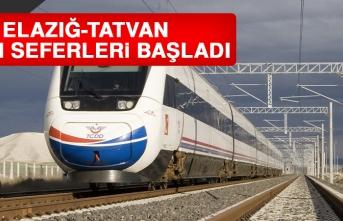 Elazığ-Tatvan Tren Seferleri Başladı
