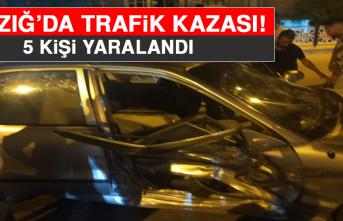 Elazığ'da Trafik Kazası! 5 Yaralı