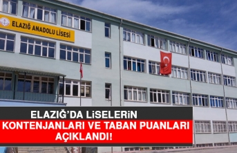 Elazığ'da Liselerin Boş Kontenjanları ve Taban Puanları Açıklandı!
