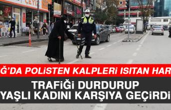 Elazığ'da Polisten Kalpleri Isıtan Hareket