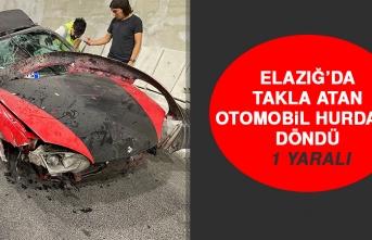 Elazığ'da Takla Atan Otomobil Hurdaya Döndü: 1 Yaralı