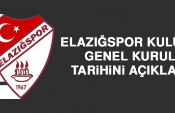 Elazığspor Kulübü, Genel Kurul Tarihini Açıkladı