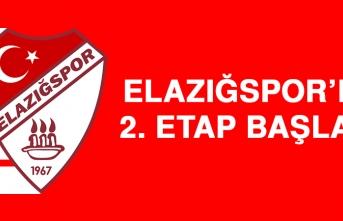 Elazığspor'da 2. Etap başladı