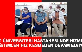 Fırat Üniversitesi Hastanesi'nde Hizmet İçi Eğitimler Hız Kesmeden Devam Ediyor