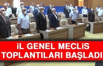 İl Genel Meclis Toplantıları Başladı