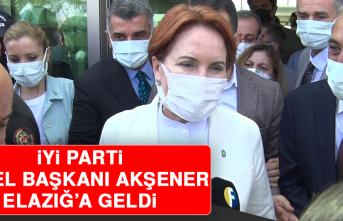 İYİ Parti Genel Başkanı Akşener Elazığ'a Geldi