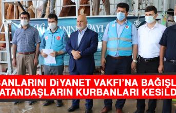 Kurbanlarını Diyanet Vakfı'na Bağışlayan Vatandaşların Kurbanları Kesildi!