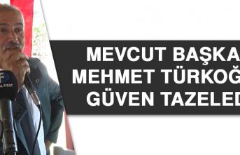 Mevcut Başkan Türkoğlu Güven Tazeledi
