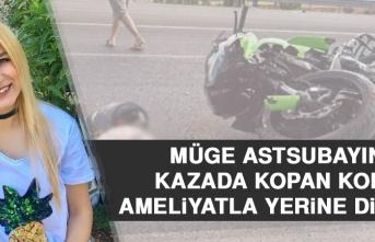 Müge Astsubayın Kazada Kopan Kolu, Ameliyatla Yerine Dikildi