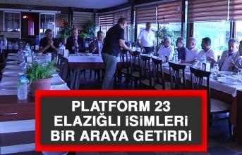 Platform 23 Elazığlı İsimleri Bir Araya Getirdi