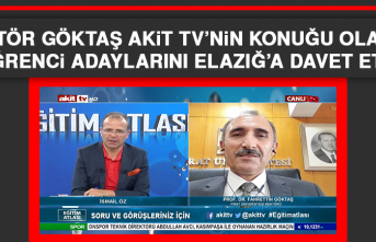 Rektör Göktaş, Akit TV'nin Konuğu Olarak Öğrenci Adaylarını Elazığ'a Davet Etti