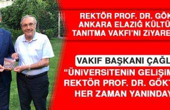 Rektör Prof. Dr. Göktaş Ankara Elazığ Kültür ve Tanıtma Vakfı'nı Ziyaret Etti
