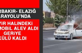 Seyir Halindeki Otomobil Alev Aldı, Geriye Külü Kaldı