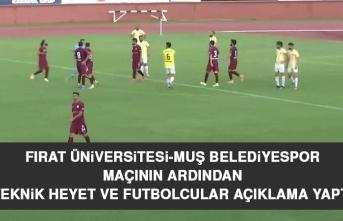 Teknik Heyet ve Futbolcular Açıklama Yaptı