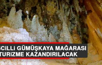 Tescilli Gümüşkaya Mağarası Turizme Kazandırılacak