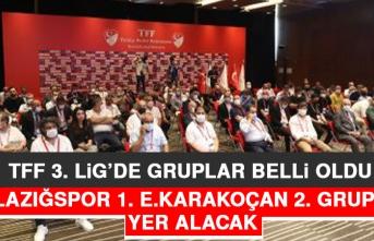 TFF 3. Lig'de Elazığspor 1. E.Karakoçan 2. Grupta Yer Alacak