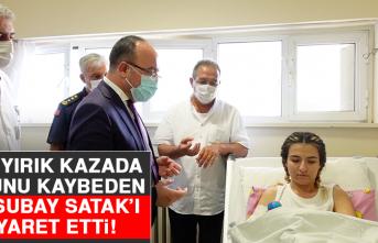 Vali Yırık, Kazada Kolunu Kaybeden Astsubay Müge Satak'ı Ziyaret Etti