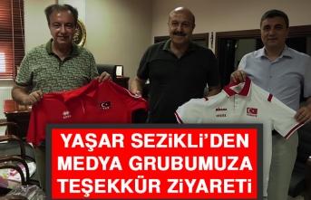 Yaşar Sezikli'den Medya Grubumuza Teşekkür Ziyareti