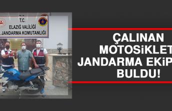 Çalınan Motosikleti Jandarma Ekipleri Buldu